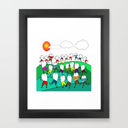 Whimsical Frolicking Teeth Framed Art Print
