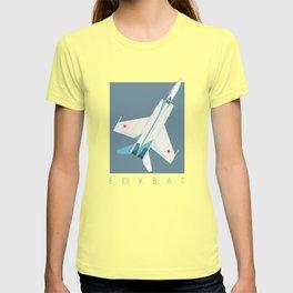MiG-25 Foxbat Interceptor Jet Aircraft - Slate T-shirt