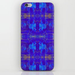 Holiday Blue + Gold iPhone Skin
