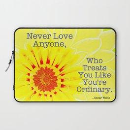 Oscar Wilde Quote Laptop Sleeve