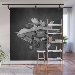 F35 Fighter Jet Airplane - F-35B Lighting II Joint Strike Fighter Cartoon Wall Mural