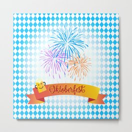 Happy Oktoberfest Festival Decoration Gifts and Presents Metal Print