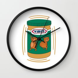 Peanut Butter Vibes - Smooth Wall Clock