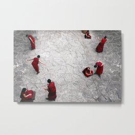 Monks in Lhasa, Tibet Metal Print