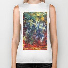"Claude Monet ""Weeping Willow, Giverny"", 1922 Biker Tank"