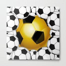 Sports Soccer Ball Pattern Metal Print