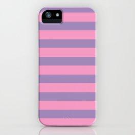 Pink & Lavender Stripe Pattern iPhone Case
