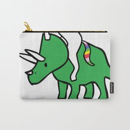 To The Disco (Unicorn Riding Triceratops) Carry-All Pouch