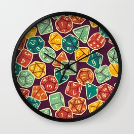 Dice Addict Wall Clock
