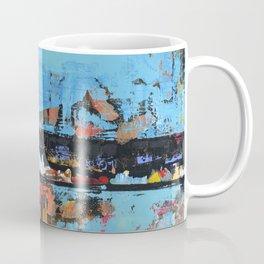 Stallion Blue Modern Painting Abstract Art Landscape Coffee Mug
