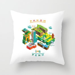 Phnom  Penh Throw Pillow