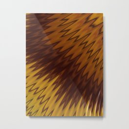 Yellow/Brown Diagonal Pattern Metal Print