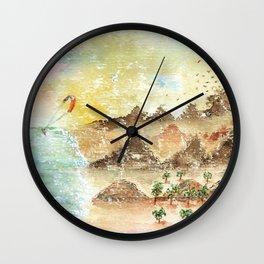 Landscape Nature Watercolor Art Wall Clock