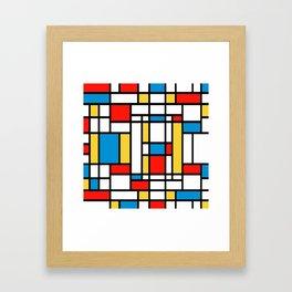 Tribute to Mondrian No2 Framed Art Print