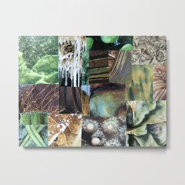 Collage - It's Not Easy Being Green Metal Print
