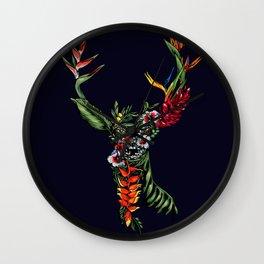 Tropical Deer Wall Clock