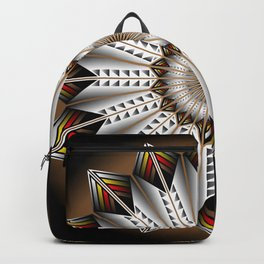 Feather Design Backpack