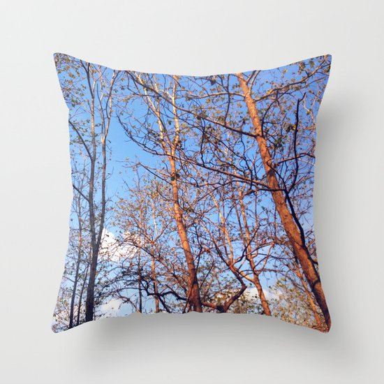 Hush Forest Throw Pillow