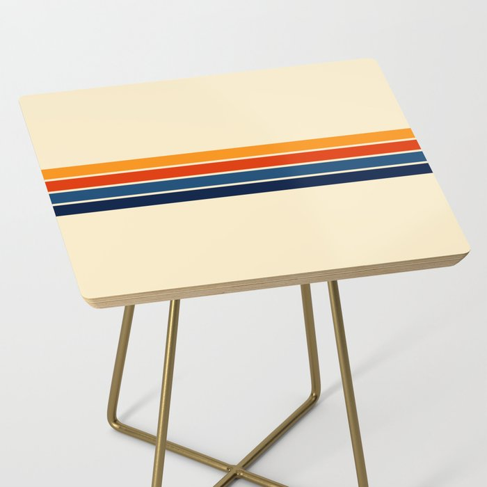 Classic Retro Stripes Side Table
