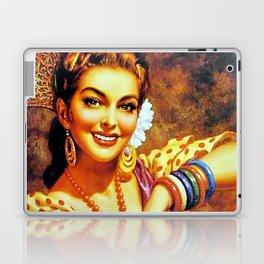 Jesus Helguera Painting of a Mexican Calendar Girl with Bangles Laptop & iPad Skin