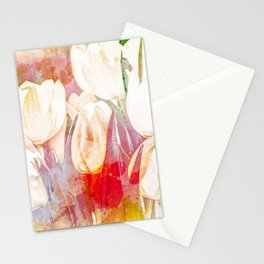 Tulip Fever Abstract Art Stationery Cards