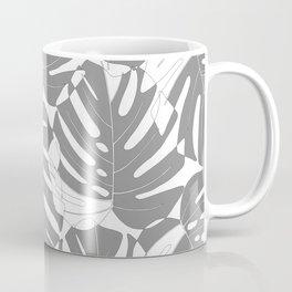 Monstera deliciosa Minimalistic black and white Coffee Mug