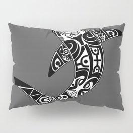 Tribal great white shark Pillow Sham