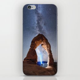 Starry Night Pointer at Milky Way Night sky in Moab Arches National Park  Utah USA  iPhone Skin