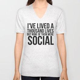 No Social Life Unisex V-Neck