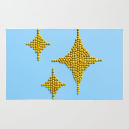 Sparkles Food Emoji Rug
