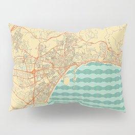 Malaga Map Retro Pillow Sham