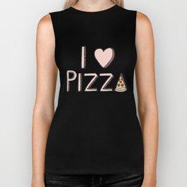 I Love Pizza Biker Tank