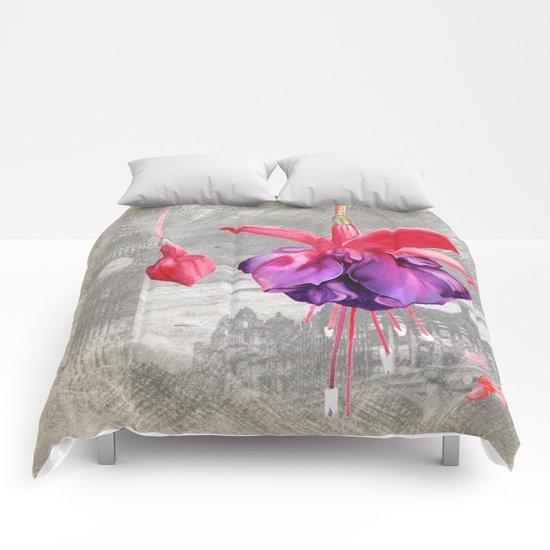 Macro Flower #7 Comforters