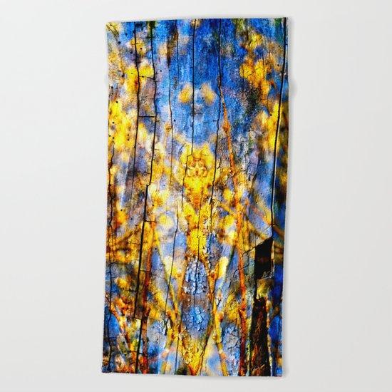 BLUE SYMPHONY of SPRING Beach Towel