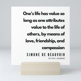8       Simone De Beauvoir Quotes   190605 Mini Art Print