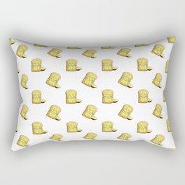 Avocado toast and mask Rectangular Pillow