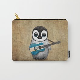 Baby Penguin Playing Honduras Flag Acoustic Guitar Carry-All Pouch