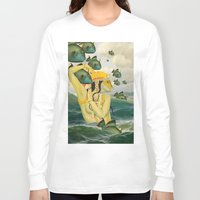 mermaid Long Sleeve T-shirts featuring MERMAID by Julia Lillard Art