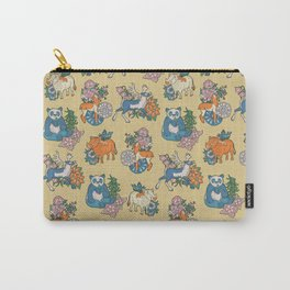 Retro llama and friends Carry-All Pouch