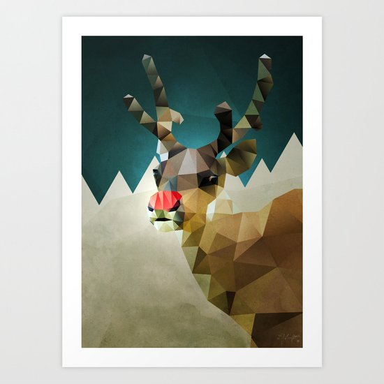Poor Rudolph - Christmas Art Print
