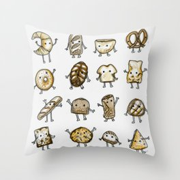I Love Bread Throw Pillow
