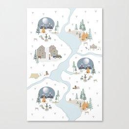 Camp Sleepy Moon Canvas Print