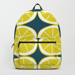 Modern Yellow Lemon Pattern Backpack