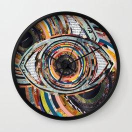 Rainbow Eyes Collage Wall Clock