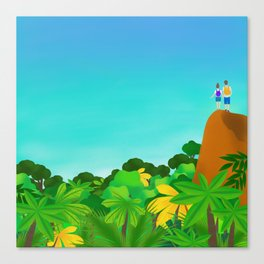 On top of the world with you Canvas Print