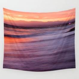 Venice Beach Sunset Wall Tapestry