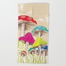 Magical Mushrooms Beach Towel