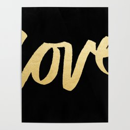 Love Gold Black Type Poster