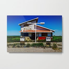 Abandoned Pit Stop Metal Print