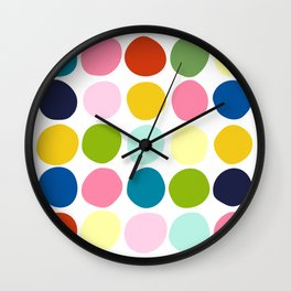 Modern art of colorful circles Wall Clock